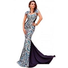 Rochie eleganta cu model si trena