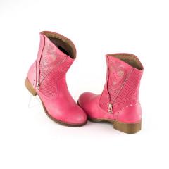 Cizme roz perforate