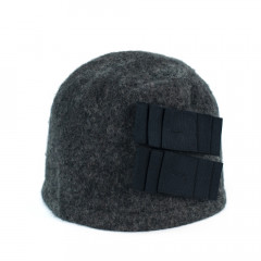 Caciula din lana gri-inchis