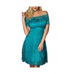 Rochie din dantela turquoise
