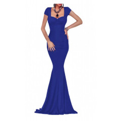 Rochie albastra tip sirena