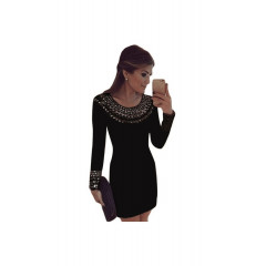 Rochie neagra cu aplicatii