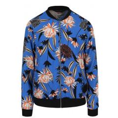 Jacheta bomber Dorothy Perkins albastra cu model floral