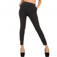 Pantaloni lungi, skinny, in dungi orizontale