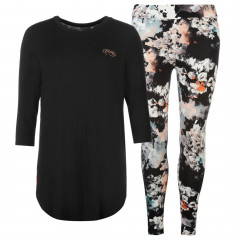Pijama moderna, cu imprimeu floral-Firetrap