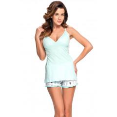 Pijama moderna, din bumbac, de culoare vernil