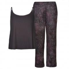 Pijama moderna, cu imprimeu floral violet-Firetrap
