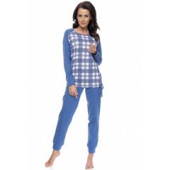 Pijamale lungi, albastre