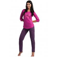 Pijamale lungi roz-mov