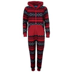 Pijamale intregi cu model de Craciun