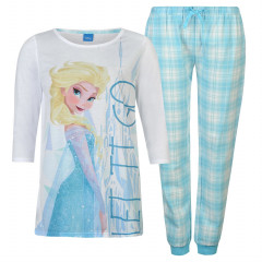 Pijamale alb cu bleu cu personaj din Frozen
