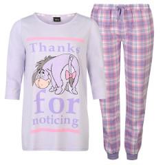 Pijamale gri cu mov, cu magarusul din Winnie the Pooh