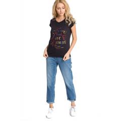 Boyfriend jeans din denim spalacit