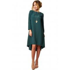 Rochie asimetrica verde