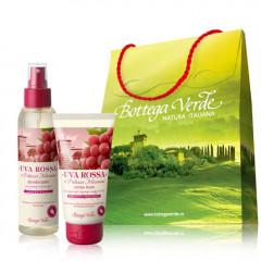 Set cadou cu extract de struguri rosii