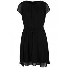 Rochie neagra pentru femeile cu forme