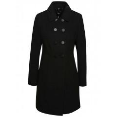 Palton negru cu guler ascutit