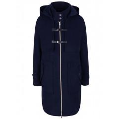 Palton albastru inchis cu gluga