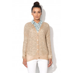Cardigan tricotat nude - United Colors of Benetton