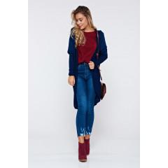 Cardigan albastru-inchis tricotat
