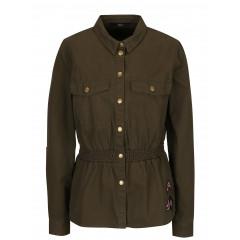 Jacheta din denim cu aplicatii