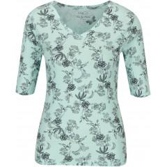 Tricou verde mentol cu imprimeu floral