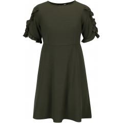 Rochie cu volane pe maneci