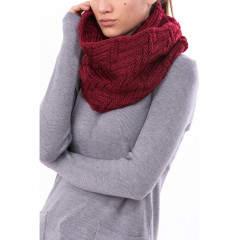 Fular dama tricotat rosu