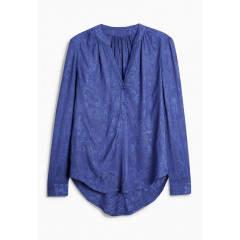 Bluza tip camasa cu pense in stil vintage cu aspect texturat albastru regal NEXT
