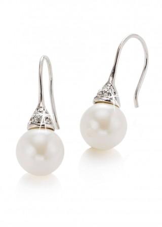 Cercei cu perle albe, de firma