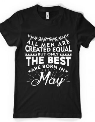 Tricou cu mesaj pentru barbati - luna Mai