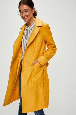 Palton tip trenci simplu galben-mustar Noisy May